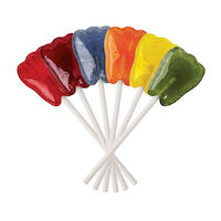 5250283 Dr. John's Sweet Originals Classic Fruit Lollipops Tooth Shaped Classic Fruit Assortment, 150/Pkg., DJC08