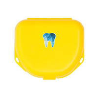 "9538283 Imprinted Retainer Boxes 1"", Neon Yellow, 24/Pkg., 25P500O"