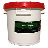 8950004 Medentotainer Large Waste Amalgam, 4 Gallon, BOUS1902
