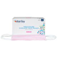9515104 Fluid-Resistant Earloop Masks Pink, 50/Box