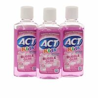 8520404 ACT Kids Fluoride Rinse, Alcohol-Free, Bubble Gum Blow Out, 1 oz., 48/Box, 9406