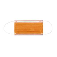 4952014 Monoart Face Masks Protection 3 Orange, 50/Box, 217115