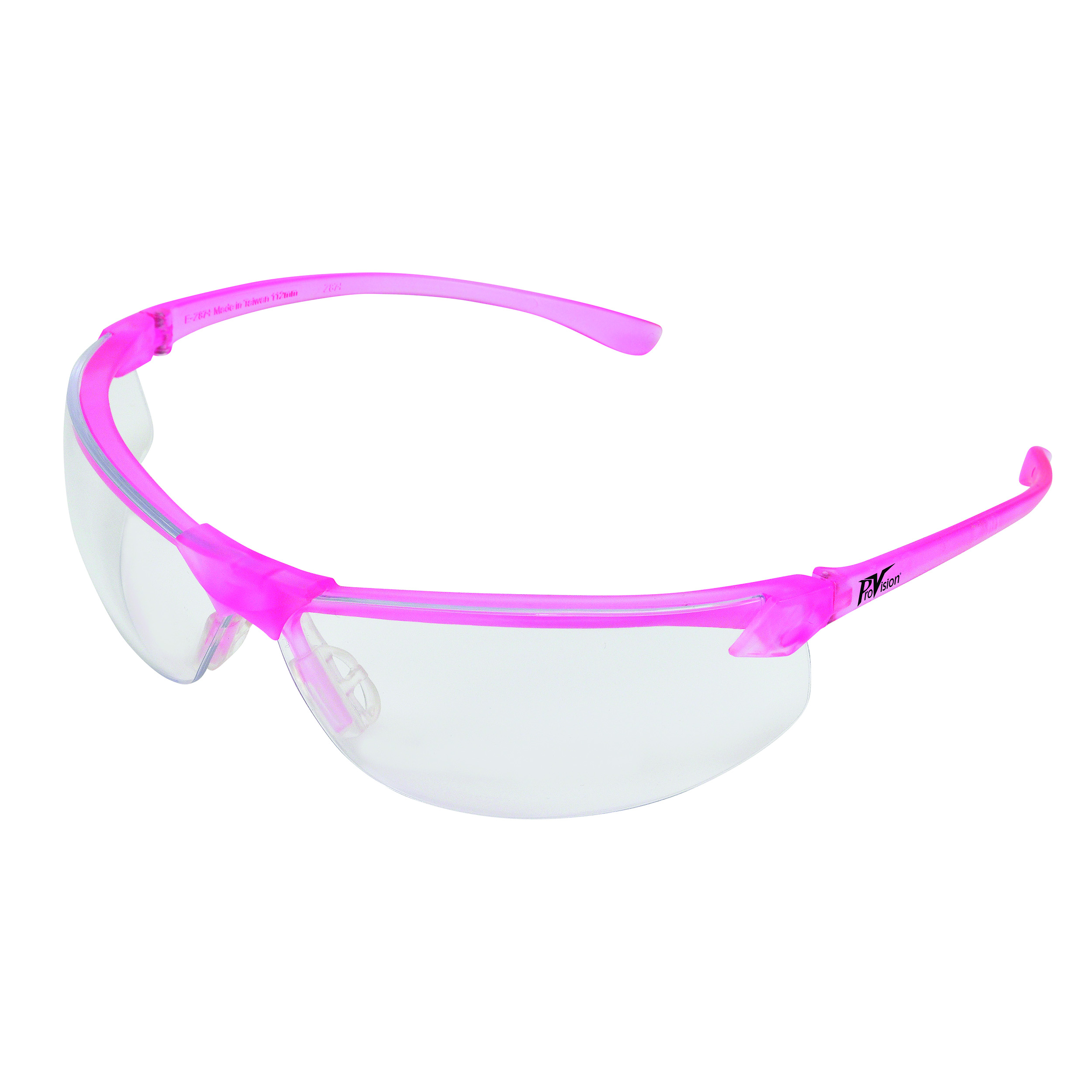 9200114 ProVision Allure Eyewear Pink Frame, Clear Lens, 3604PC