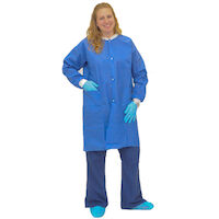 5251114 ValueFlex Lab Coats ValueFlex Lab Coat,Large,10/Pkg.,Blue,D089-18-04