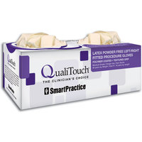 3051214 QualiTouch Fitted Latex PF Gloves Size 6.5, 50 Pair/Box, 43165