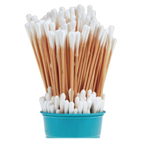 "9328314 Premium Cotton Tipped Applicators 6"", 1000/Pkg, H6C"