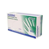 2211024 GOLD Latex Powder Free (PF) Exam Gloves Medium,100/Box,Natural White,gld265