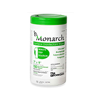 "9460134 Monarch Surface Disinfectant Wipes 7"" x 9"", 100/Can, H6171"