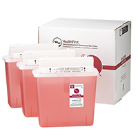 3170734 Sharps Recovery Dental Containers 5 Quart, 3/Box, 3877