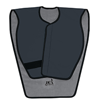 9558734 Lead-Free X-Ray Aprons Panoramic Poncho, Charcoal, 31390