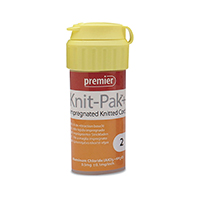 """8780244 Knit-Pak Plus Impregnated Knitted Retraction Cord Size 2, Orange, 100"""", 9007655"""