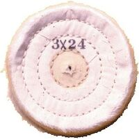 "9502244 Muslin Buffs for Lathes 4"" X 24, 10/Pkg"