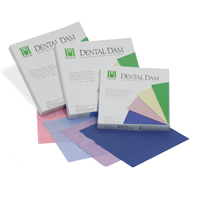 "8441754 Hygenic Fiesta Dental Dam 6"" x 6"", Thin, Assorted Colors, 36/Box, H04639"