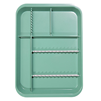 9521754 B-Lok Divided Setup Trays Green, 20Z451D