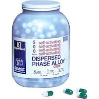 9526854 Dispersed Phase Alloy Fast Set, Three Spill, 800 mg, Yellow/Yellow, 500/Pkg