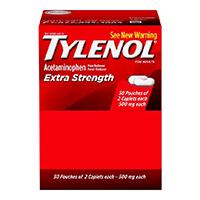 1643954 Tylenol Extra Strength, 500 mg, Caps (50 x 2)