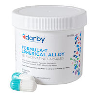 9513954 Formula-T Spherical Alloy Fast Set, Three Spill, Aqua/White, 50/Pkg.
