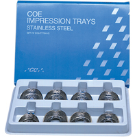 8191164 Coe Stainless Steel Perforated Regular Impression Trays S4, Upper, Regular, 264041