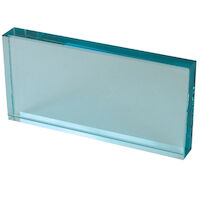 "9514164 Glass Mixing Slab 6"" x 3"" x _"", Glass"