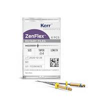 5251364 ZenFlex NiTi Rotary Files ROTARY NICKEL TITANIUM FILE, .25/.04/25mm, 6/Pkg., 818-1252