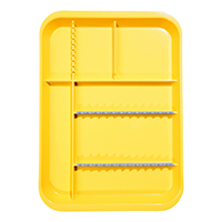 9521564 B-Lok Divided Setup Trays Neon Yellow, 20Z451O