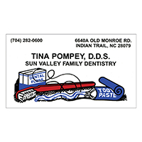 3310964 Business Card Magnets Three Color, 1000/Box