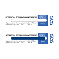 "9541374 SteamPlus Steam Sterilization Integrator 4"" x 0.75"", 100/Box, SSI-100"