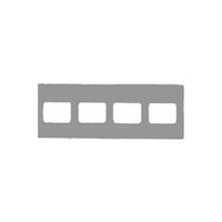 9522674 Klear-Vue Cardboard 4H #2, 100/Box, 25209