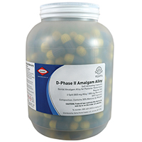 9526974 D-Phase II Amalgam Alloy Regular Set, Three Spill, 800mg, Yellow/Gray, 500/Pkg