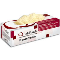 3051184 QualiTouch EXTRA Latex PF Gloves Medium/Large, 100/Box, 43304