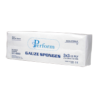 "0063184 All-Gauze Sponges, Non-Sterile 2"" x 2"", 12 Ply, 200/Pkg, ENC212"