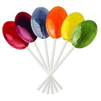 5250284 Dr. John's Sweet Originals Classic Fruit Lollipops Oval Shaped Classic Fruit Assortment, 150/Pkg., DCJ13
