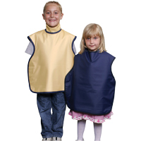 8851984 Child Soothe-Guard Lead Lined Aprons with Thyroid Collar, Tan, 6612047