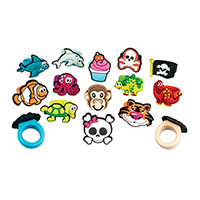 3310094 Rubbery Rings Rubbery Ring Assortment, 72/Pkg.