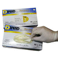 3182094 Defend Micro-Textured Latex PF Gloves Large, 100/Box, LG-2105