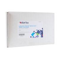 "9539994 Liquid-Proof Bracket Tray Covers 9 1/2"" x 12 3/8"", White, 500/Box"