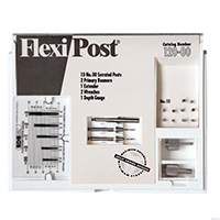 9530505 Flexi-Posts Standard Kits Stainless Steel, Size 00, White, 10/Pkg., 120-00