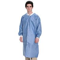 9510605 Extra Safe Lab Coats Small, Ceil Blue, 10/Pkg, 3660CBS