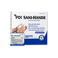 """3183015 Sani-Hands Sani-Hand Wipes, Individual Packets, 5"""" x 8"""", 100/Box, SANDI"""