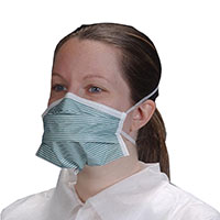 9506115 Critical Cover PFL Headband Masks N-95 Particulate Respirator, Teal Stripe, 35/Box, 695
