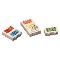 4433215 Autoclavable Bur Block 8 Holes, Blue, BA-8BLU