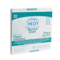 "8970025 Latex Dental Dam 6"" x 6"", Medium, Green, 36/Box, 310DG-6M"