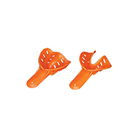 2174025 Excellent-Colors Disposable Impression Trays #2, Child Medium Lower, Orange, 50/Bag, ITO-2L-50
