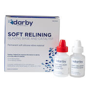9507635 Darby Soft Relining Material Soft Relining Glazing Base 10mL, Glazing Catalyst 10mL