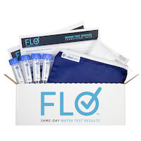 5251045 Flo Water Testing Service Kit 1 Mail-in Test Kit with 4 Specimen Vial, 70401