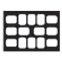 8854045 EZ-Tab Gray Plastic Series 4HO for #0 film, 100/Pkg., 30-4040
