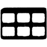 9084045 Cardboard X-Ray Mounts 6H  #2, 100/Pkg., 6H