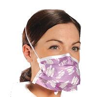 "2211055 Alpha ProTech Critical Cover PFL Face Masks 8"", Single Band,50/Box,Blue,608"