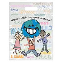 "3314155 Specialty Bags 250 Count We All Smile, 9"" x 13"", 250/Pkg."