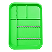 9521565 B-Lok Divided Setup Trays Neon Green, 20Z451P